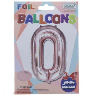 ROSE GOLD  #0 FOIL BALLOON 34 INCH