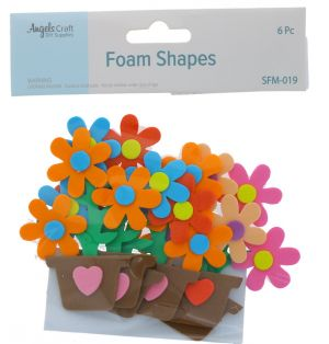 FOAM FLOWER SHAPE 10 PC