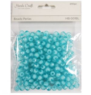 BABY BLUE BEADS 100 PC