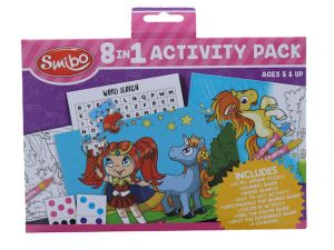 KIDS TRAVEL ACTIVITY PACK 8 IN 1