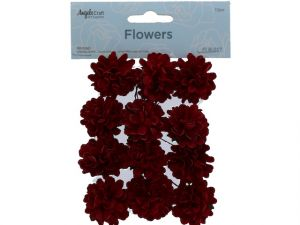 PAPER FLOWER MAROON 1.50 INCHES 12 COUNT