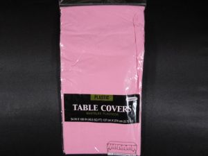 Plastic Table Cover in Light Pink Color Party Table Cloths Disposable Rectangle Tablecloth - Size 56 x 108 Inches