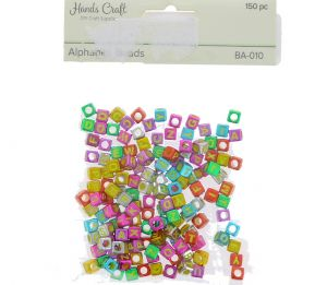 ALPHABET BEADS COLORFUL 150 PC