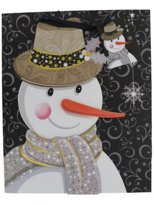 SNOWMAN CHRISTMAS MEDIUM GIFT BAG