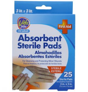 GAUZE PAD 3 X 3 INCH 25 COUNT