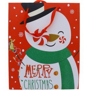 SNOWMAN CHRISTMAS XL GIFT BAG