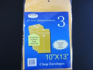 CLASP ENVELOPES 10X13 IN