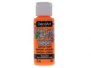 ORANGE NEON CRAFT ACRYLIC PAINT