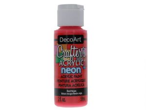 RED NEON CRAFT ACRYLIC PAINT