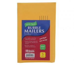 BUBBLE MAILERS 4 INCH X 7.25 INCH 5 PACK