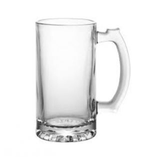 GLASS BEER MUG 16 OZ