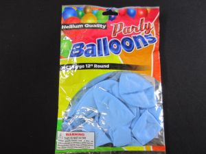 BALLOONS BABY BLUE 12IN 10CT