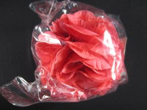 ROSE FLOWER CORAL 4IN