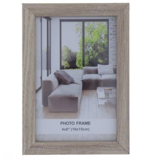WHITE PHOTO FRAME 4 X 6 INCH DIS XXX