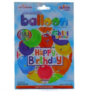 HAPPY BIRTHDAY NON FOIL BALLOON 18 INCH