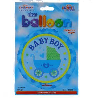 BABY BOY NON FOIL BALLOON 18 INCH