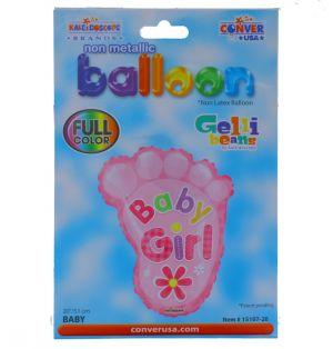 ITS A GIRL FOOT NON FOIL BALLOON 18 INCH
