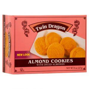 TWIN DRAGON COOKIES 8 OZ ALMOND