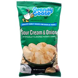 GRANNY GOOSE SR CRM &ampampampampampampampampamp ONION POTATO CHIPS 5 OZ