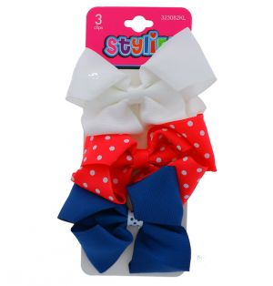 BOW WITH CLIP 3 PINCHES XXX