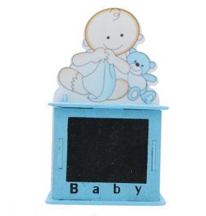 BABY BOY CHALK BOARD TREAT BOX BLUE