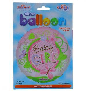 ITS A GIRL NON FOIL BALLOON 18 INCH