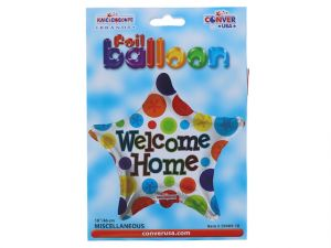 WELCOME HOME MYLAR BALLOON 18 INCH