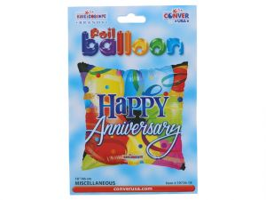 HAPPY ANNIVERSARY MYLAR BALLOON 18 INCH