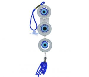 EVIL EYE WITH WHITE CIRCLES