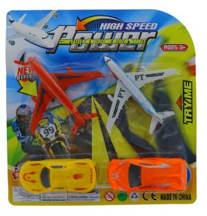 CAR AND MOTORCYCLE SET