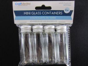 17ml Mini Glass Containers x4 XXX
