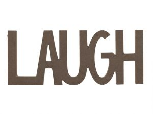 LAUGH WORD DECOR
