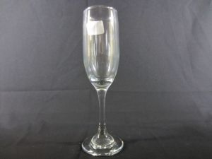 CHAMPAGNE GLASS CLEAR 6.25 oZ height 8&ampampquot