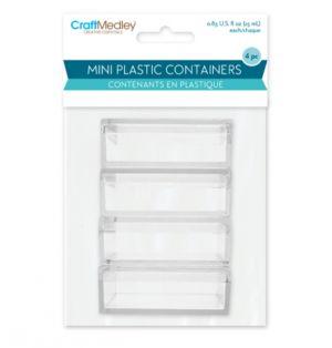 MINI PLASTIC CONTAINERS 4 PACK 25 ML
