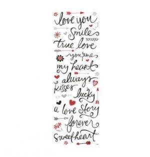 ROMANTIC PHRASE STICKERS 40 PC