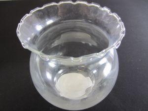 TEMP. GLASS FISH BOWL W RUFFLE 4.25 IN X 5 IN