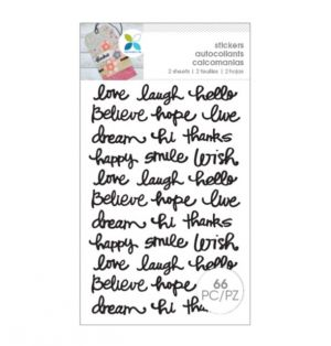 INSPIRATIONAL WORD STICKERS 66 PC