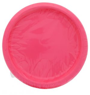 PINK 9 Inch Dinner Plates 16 Count