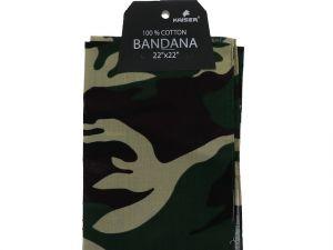 Camouflage Bandana 100 Cotton Versatile Large Paisley Bandanas in Pack of 1