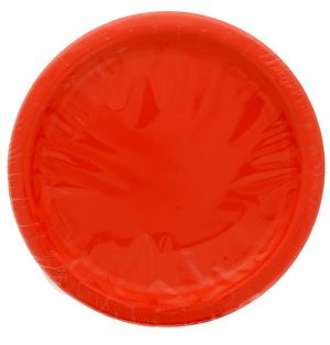 RED 9 Inch Dinner Plates 16 Count