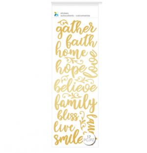 GOLD INSPIRATIONAL SITCKERS 11 PC