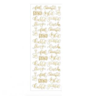 GOLD STICKERS WITH FAISED BASED PHRASES 34 PC
