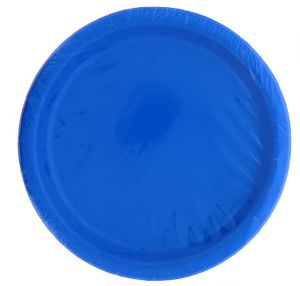 ROYAL BLUE 9 Inch Dinner Plates 16 Count