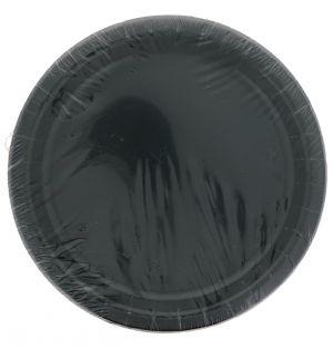 Black 7 Inch Dessert Plates 20 Count