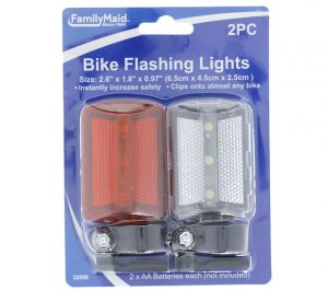 BIKE FLASHING LIGHTS 2 PACK
