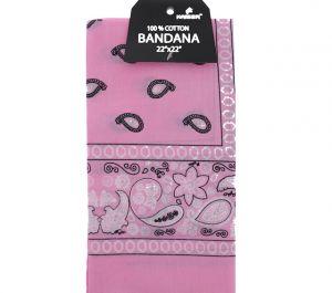 Pink Bandana 100 Cotton Versatile Large Paisley Bandanas in Pack of 1