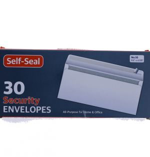 SECUIRTY ENVELOPES 30 COUNT 9.5 INCH X 4.125 INCH