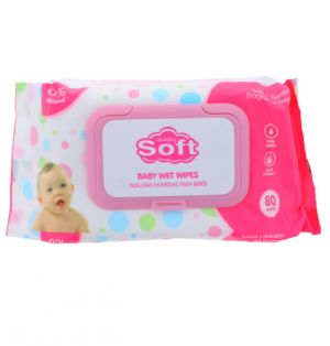SIMPLY SOFT BABY WET WIPES PINK 80 COUNT