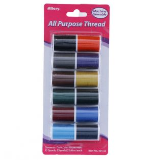 ALL PURPOSE THREAD 12 COUNT DIFFERENT COLORS