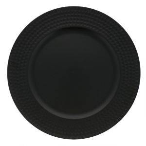 PLATE CHARGER ROUND BLACK 13 IN